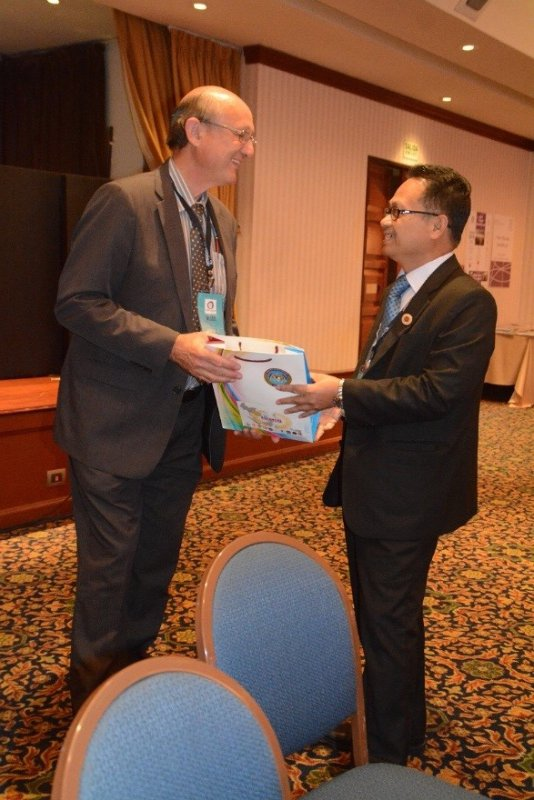 Datuk Anwari Handed Over ASEANSAI Profiles to Wessel Pretorius as Chief Executive Officer (CEO) from AFROSAI-E