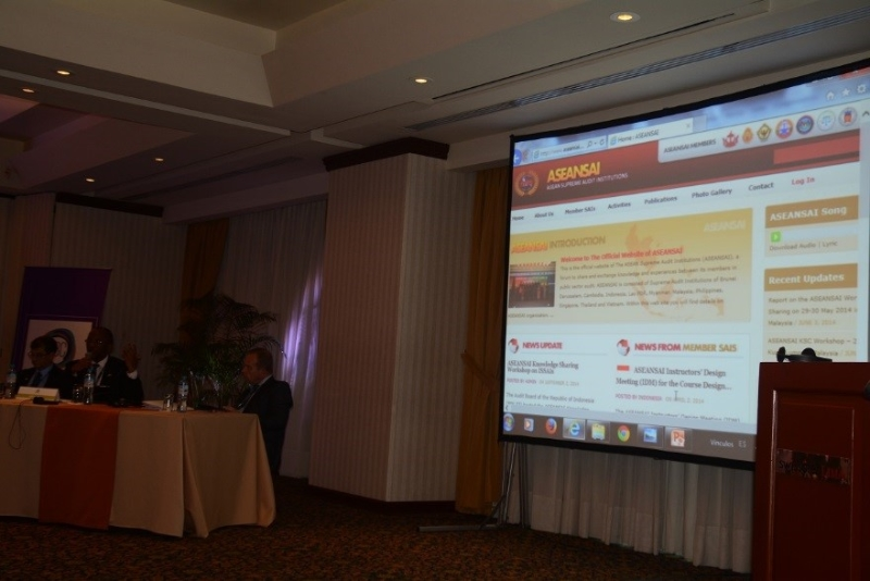 ASEANSAI website at CBC Meeting Discussion